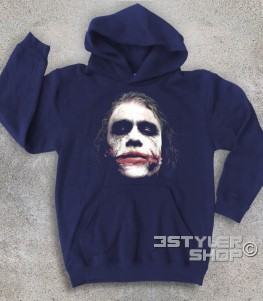 joker felpa bambino raffigurante il joker del Cavaliere Oscuro batman