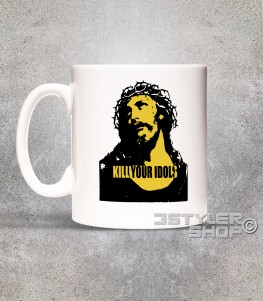 kill your idols Tazza - mug con stampa immagine Gesù e scritta kill your idols