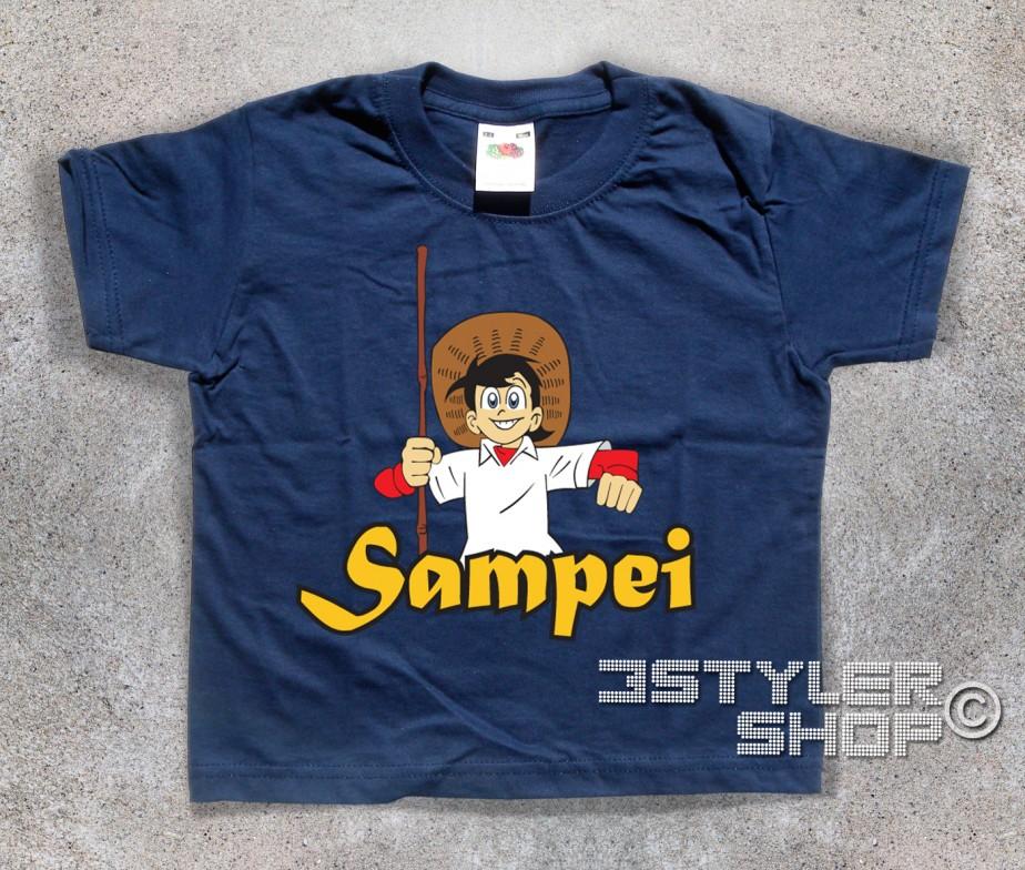 Sampei t shirt bambino il pescatore