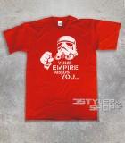 star wars t-shirt uomo raffigurante uno stormtrooper stilizzato e scritta your empire needs you