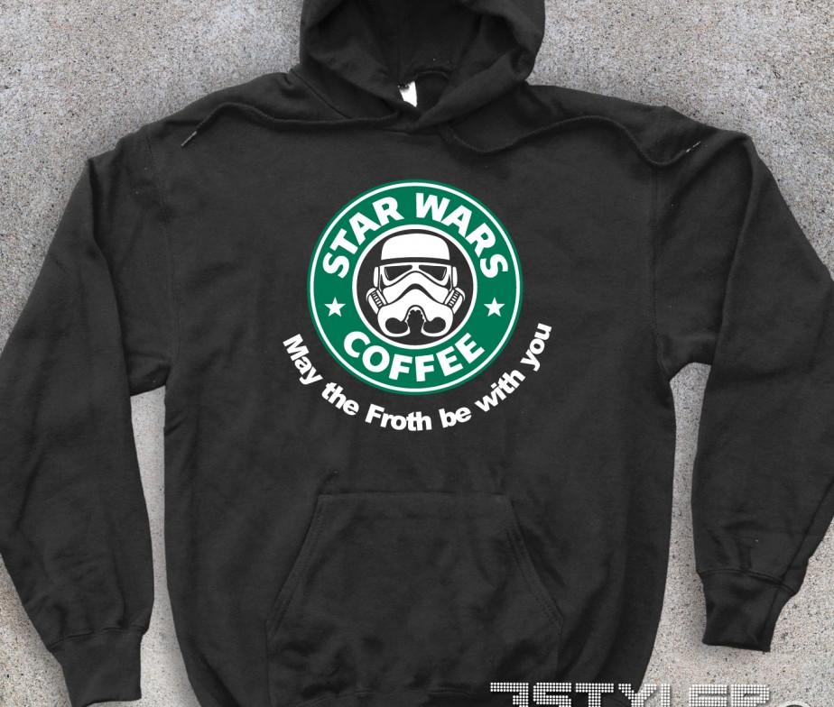Celebre Starbucks In Unisex Wars Reinterpretato Raffigurante Il Star Chiave Logo Felpa zqSpVMU