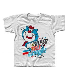 supertelegattone t-shirt bambino con Oscar il gatto di super classifica show