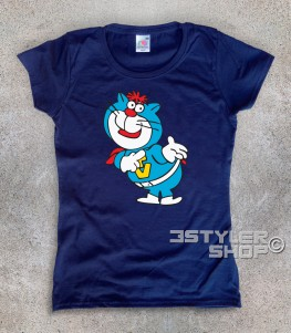supertelegattone t-shirt donna con Oscar il gatto di super classifica show