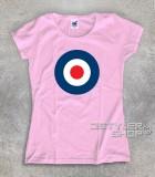 target mods t-shirt donna col target bersaglio blu bianco e rosso dei mods