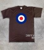 target mods t-shirt uomo col target bersaglio blu bianco e rosso dei mods