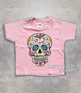 teschio messicano t-shirt bambino