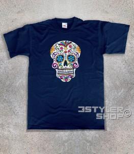 teschio messicano t-shirt uomo raffigurante un classico teschio messicano