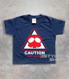 yattaman t-shirt raffigurante il logo a forma di teschio del trio drombo