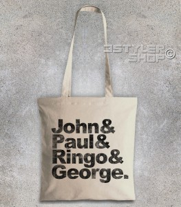 beatles shopper borsa coi loro nomi: John, Paul, Ringo e George
