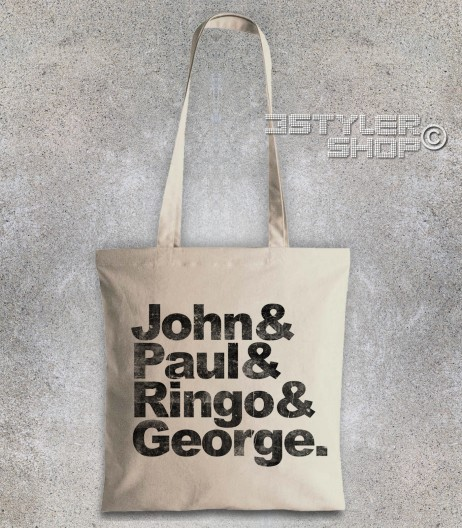 beatles shopper borsa coi loro nomi: John, Paul, Ringo e George