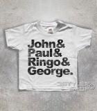 beatles t-shirt bambino coi loro nomi: John, Paul, Ringo e George