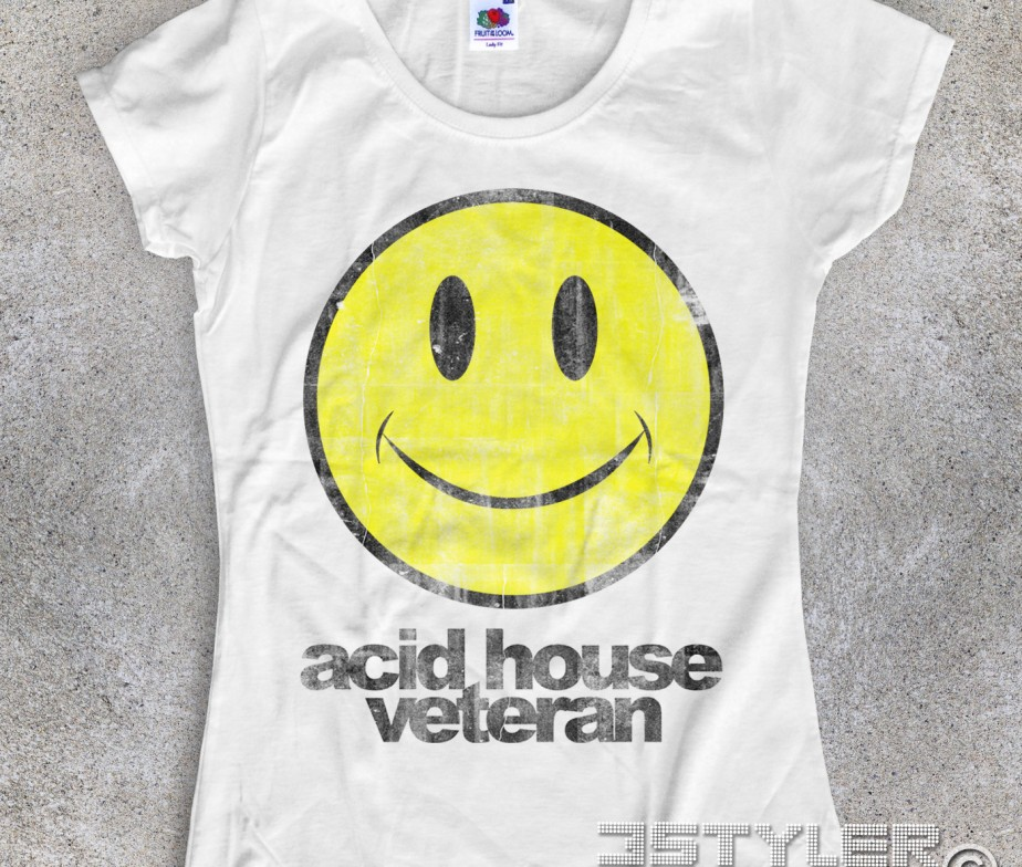 Acid house veteran t shirt donna smile for Acid house djs