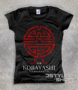 I soliti sospetti t-shirt donna con logo Kobayashi porcellane