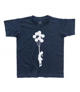 balloon girl Palestine t-shirt bambino banksy