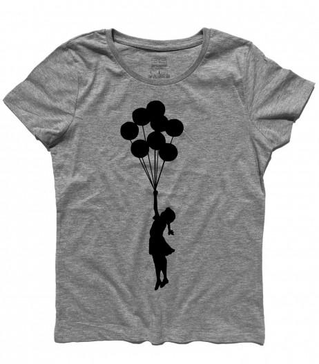 balloon girl Palestine t-shirt donna banksy