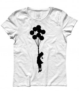 balloon girl Palestine t-shirt donna banksy