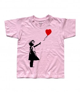 balloon girl t-shirt bambino Banksy