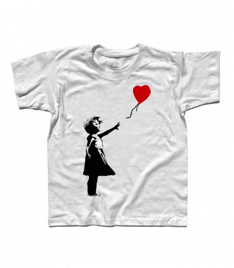 balloon girl t-shirt bambino Banksy