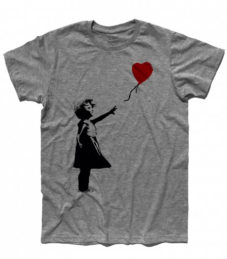 balloon girl t-shirt uomo Banksy