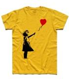 balloon girl t-shirt uomo Banksy
