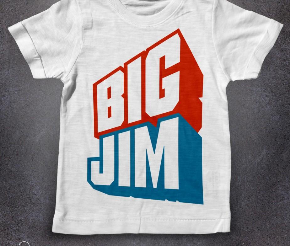 Big jim t shirt bambini mattel