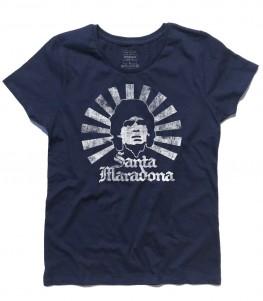 Santa Maradona t-shirt donna D10S