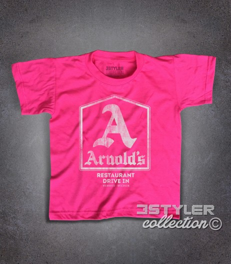 Arnold's t-shirt bambino ispirata al drive-in dove si riunivano i protagonisti di Happy Days