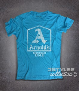 Arnold's t-shirt uomo ispirata al drive-in dove si riunivano i protagonisti di Happy Days