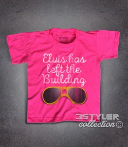 Elvis t-shirt bambino con scritta Elvis has left the building