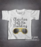 Elvis t-shirt bambino con scritta Elvis has left the building