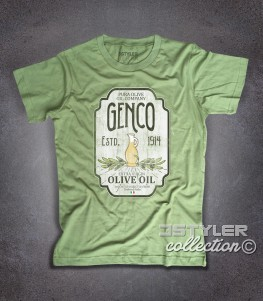 genco t-shirt uomo ispirata alla trilogia il padrino - the godfather