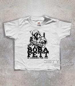 boba fett t-shirt bambino raffigurante il cacciatore di taglie di star wars