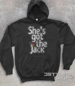 Twin Peaks felpa unisex raffigurante la scritta she's got the jack - canzone ac-dc
