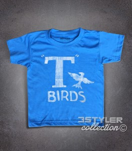 t-birds t-shirt bambino ispirata al film musical grease