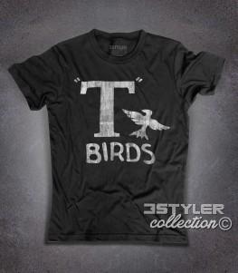 t-birds t-shirt uomo ispirata al film musical grease