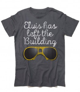 Elvis t-shirt donna con scritta Elvis has left the building