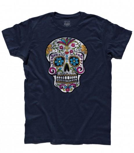 teschio messicano t-shirt uomo col teschio messicano antichizzato