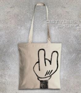 mano topolino t-shirt uomo mentre fa le corna
