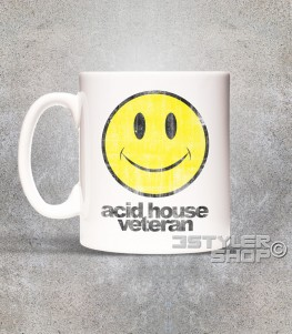 acid house veteran tazza mug con smile antichizzato