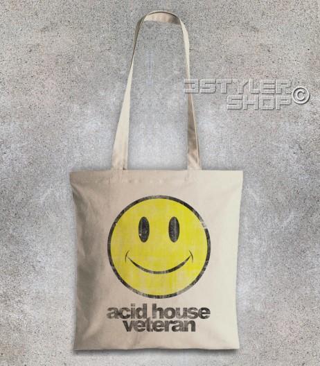 acid house veteran borsa shopper con smile antichizzato