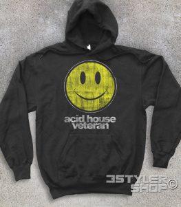 acid house veteran felpa unisex con smile antichizzato