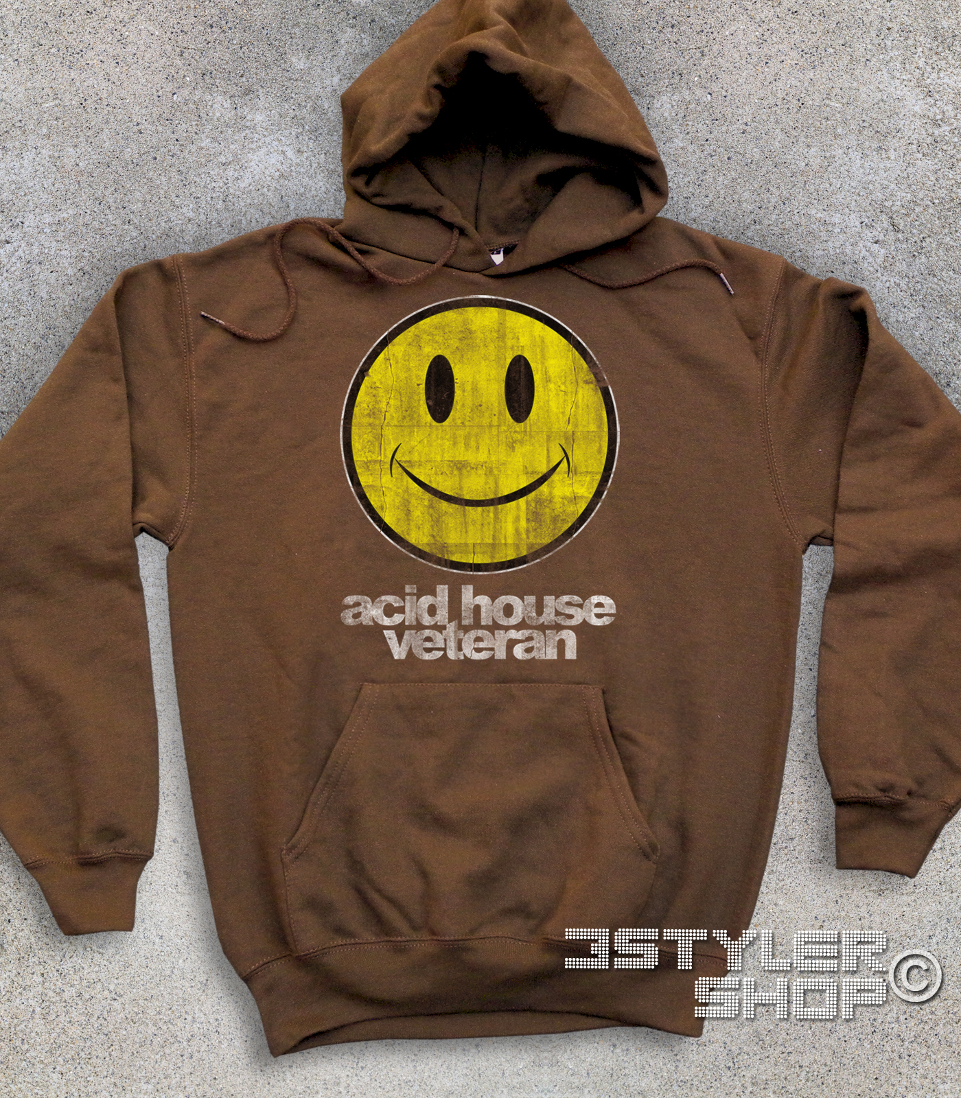 FELPA bambino vintage ACID HOUSE VETERAN smile house music musica hippie