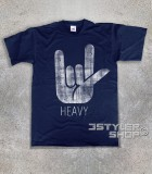 corna t-shirt uomo simbolo dell'hard rock e dell' heavy metal