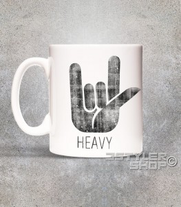corna tazza mug heavy metal