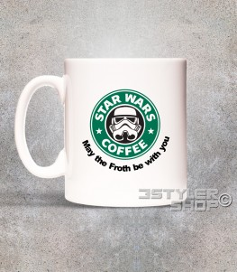 starbucks tazza mug raffigurante il celebre logo reinterpretato in chiave star wars