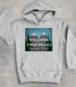 Welcome to Twin Peaks t-shirt uomo raffigurante il cartello di benvenuto della cittadina