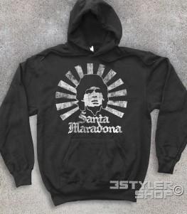 Santa Maradona felpa unisex D10S