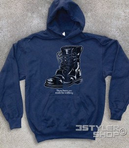"boots felpa unisex ispirata alla canzone di nancy Sinatra ""these boots are made for walkin'"""