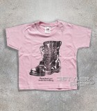 "boots t-shirt bimbo ispirata alla canzone di nancy Sinatra ""these boots are made for walkin'"""