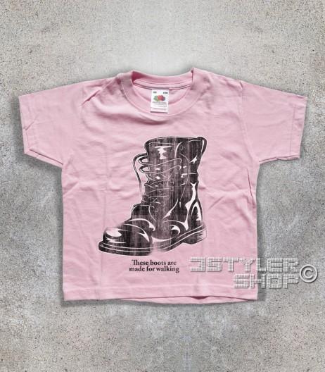boots t-shirt bimbo ispirata alla canzone di nancy Sinatra